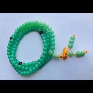 New Jade Tibetan Buddhist Mediation Mala Bracelet